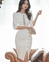 Slim ladies all-match dress banquet Korean style formal dress
