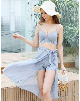 Slim conservatism steel care swimwear 4pcs set for women