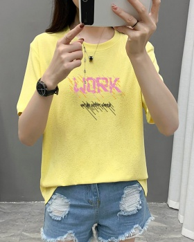 Liangsi loose glitter sequins large yard T-shirt for women