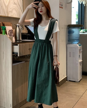 College style dress refreshing long dress for women
