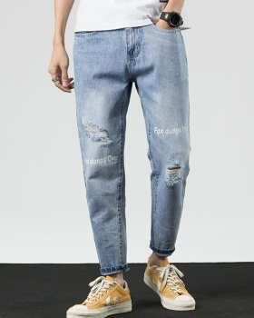 Thin retro nine pants summer Japanese style jeans