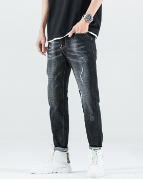 Fashion retro jeans Korean style casual pants for men