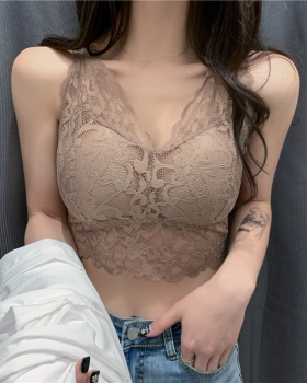 Bottoming lace sexy halter tops
