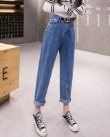 With belt jeans high waist harem pants for women