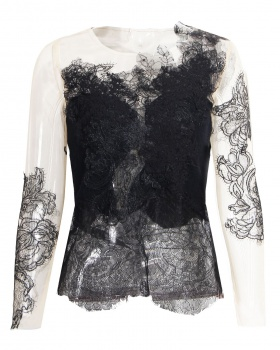 Gauze perspective spring and summer wool classical lace tops