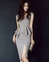 Summer Pseudo-two package hip Korean style strap dress