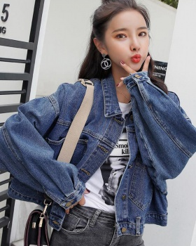 Vitality all-match fashion tops denim spring coat