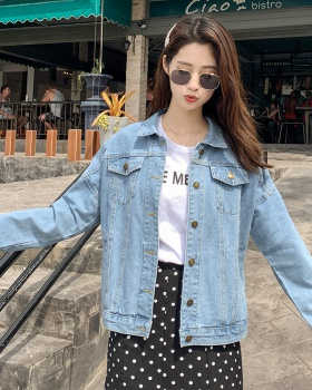 Light color loose Korean style coat short all-match jacket