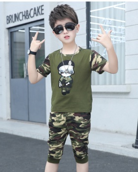 Audel child summer camouflage boy kids 2pcs set