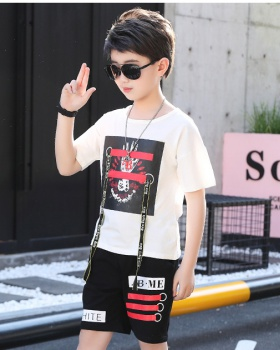 Boy child tops big child summer kids 2pcs set