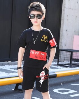 Korean style summer pants child boy kids 2pcs set