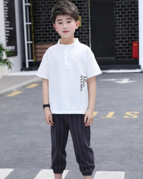 Child Korean style summer big child boy kids 2pcs set