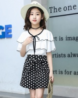 Big child Korean style Western style shorts 2pcs set