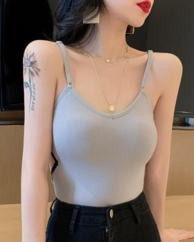 Hollow slim small sling mixed colors vest for women