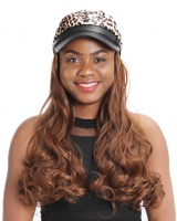 Leopard nightclub hat navy big waves headgear for women