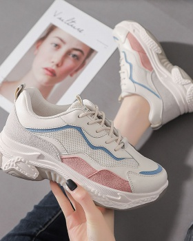 All-match mixed colors Sports shoes heighten shoes for women