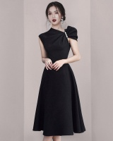 Pinched waist slim formal dress retro temperament dress