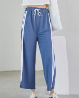 Straight split sweatpants drape all-match long pants