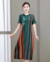 Summer temperament embroidery Chinese style dress for women
