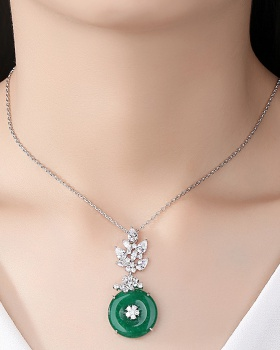 All-match banquet European style pendant necklace for women
