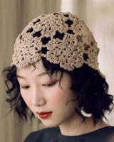 Retro hollow summer turban lace vacation hat