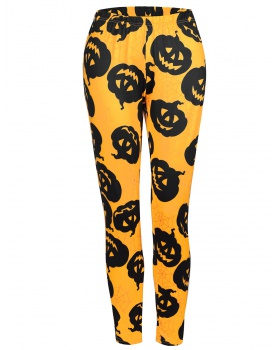 Halloween autumn long pants printing leggings for women