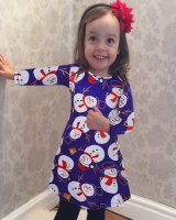 Autumn and winter christmas dress European style long sleeve kids