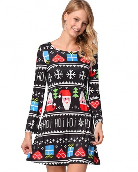 Christmas autumn and winter dress for women