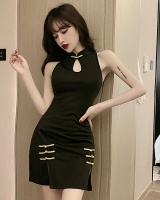 Split summer cheongsam package hip sexy vest