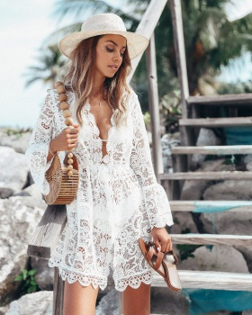Lace summer sun shirt long sleeve thin coat for women