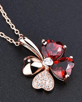 Lucky luxurious accessories crystal Korean style necklace