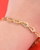 All-match hollow box silvering bracelets for women