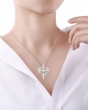 Inlay simulation pendant clavicle necklace for women