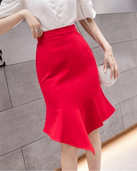 Summer irregular big skirt skirt mermaid package hip short skirt