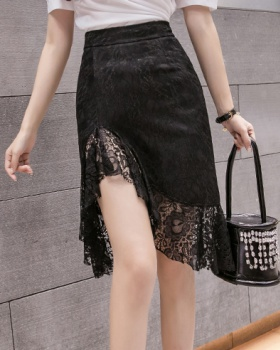 Irregular mermaid package hip summer lace skirt