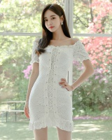 Summer bandage sweet lace elegant mini dress