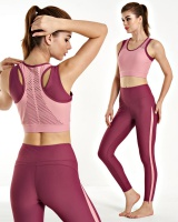 Mesh yoga tight beauty back sportswear 2pcs set