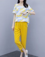 Ink fat colors summer long pants 2pcs set for women