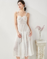 Lace hollow frenum sling slim sexy summer dress