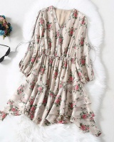 Spring ladies fashion France style dress for women