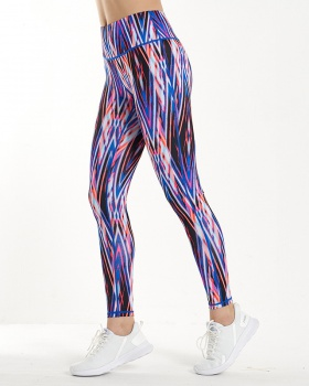 Printing fitness pants wears outside yoga pants for women