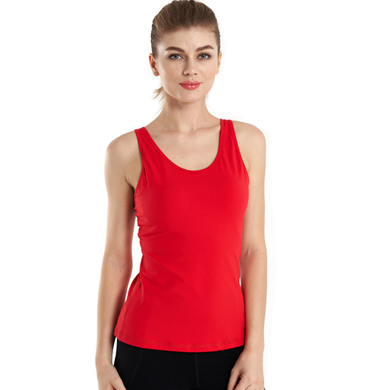 Small strap yoga tops sports vest for women