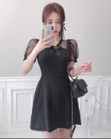 Temperament Korean style fashion summer elegant slim dress