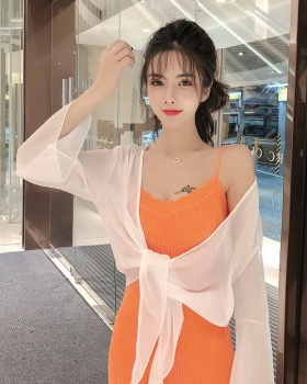 Short with sling shawl summer sun shirt for women