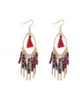 National style mixed colors earrings drops of water accessories