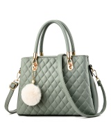 Autumn shoulder bag quilted handbag for women