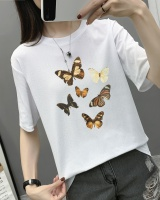 Summer short sleeve tops butterfly T-shirt for women