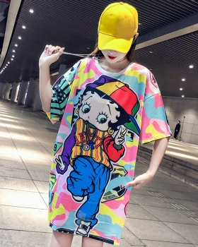 Printing long mesh wicking summer T-shirt