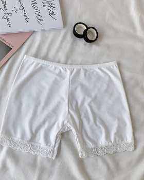 Lace anti emptied leggings silky summer shorts for women