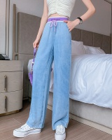 Elastic waist wide leg pants Casual jeans for women